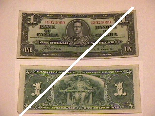 Canadian 1 Dollar Note