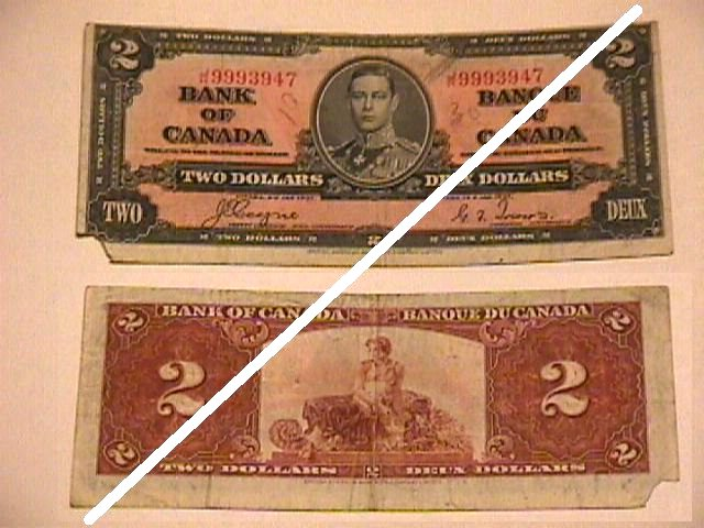 Canadian 2 Dollar Note
