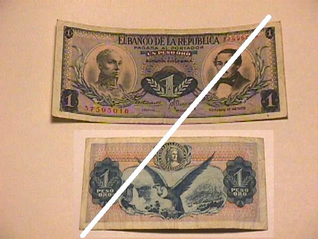 Colombian 1 Peso Note