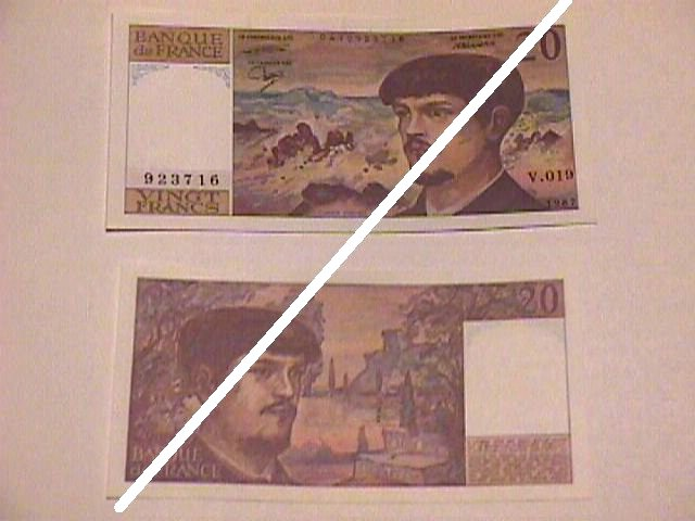 French 20 Francs Note