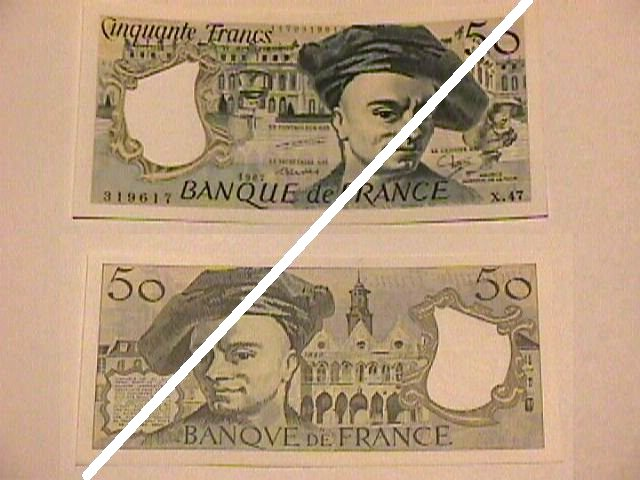 French 50 Francs Note