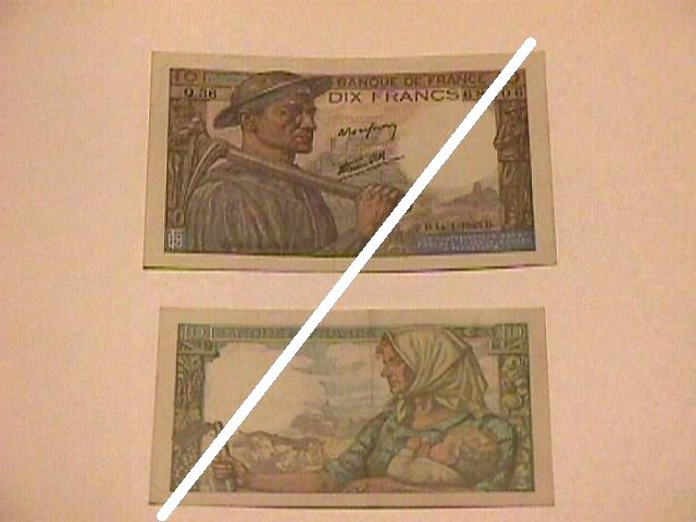French 10 Francs Note