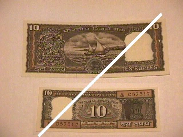 Indian 10 Rupee Note