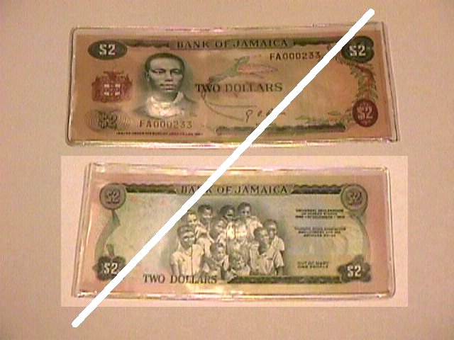 Jamaican 2 Dollars Note