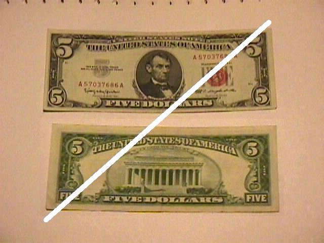 5 Dollar United States Note