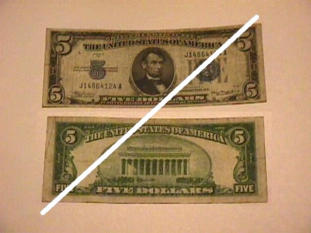 USA 5 Dollar Silver Certificate Note
