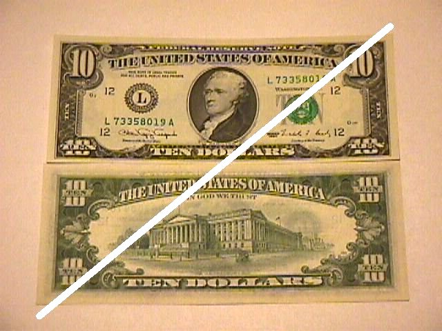 USA 10 Dollars Federal Reserve Note