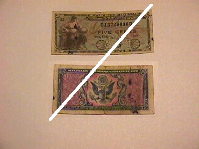 USA 5 Cents MPC Note