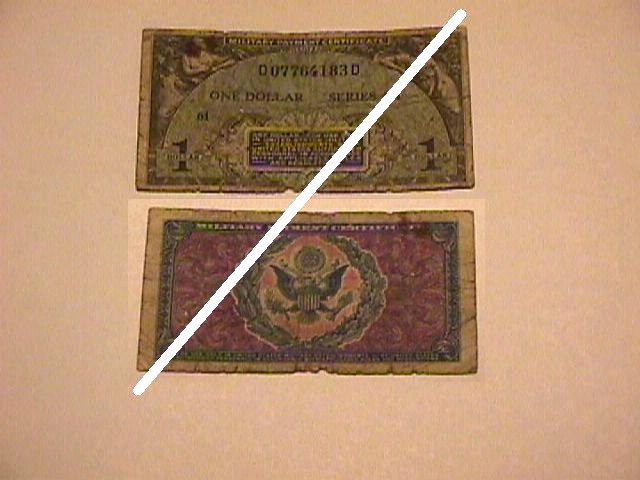 USA 1 Dollar MPC Note
