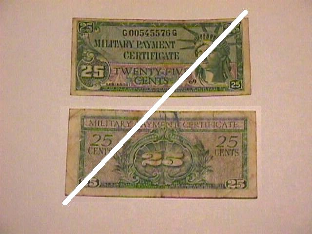 USA 25 Cents MPC Note