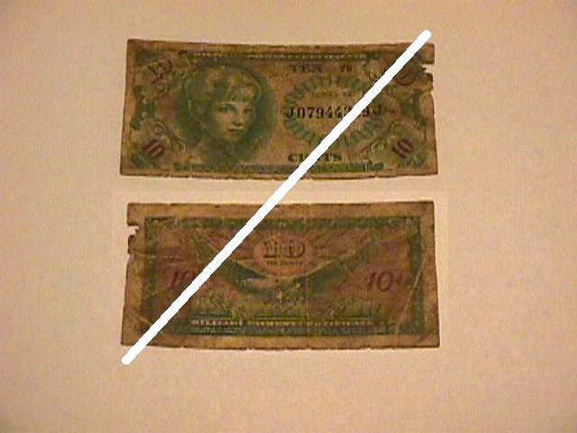 USA 10 Cents MPC Note