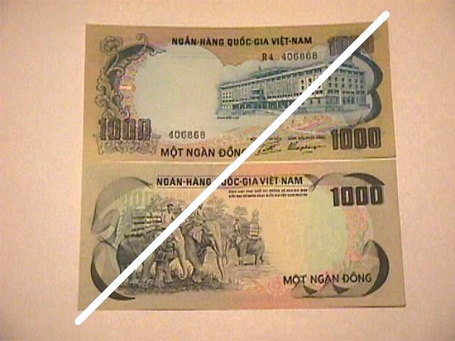 Vietnamese 1,000 Dong Note
